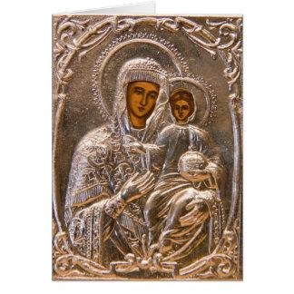Icono ortodoxo tarjeta pequeña