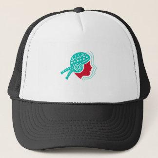 Icono peruano del lado del gorra del chica