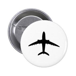 icono plano de los aviones del aeroplano chapa redonda 5 cm