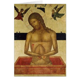 Icono que representa a Cristo en la tumba Tarjeta De Felicitación