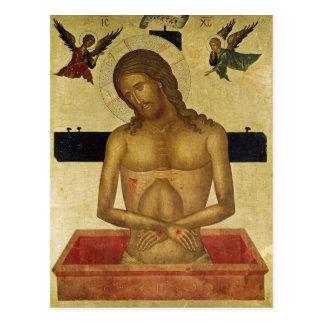 Icono que representa a Cristo en la tumba Postal