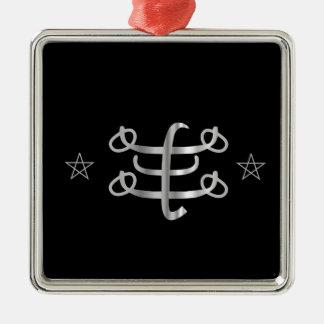 Icono religioso de Bahai del símbolo de Ringstone Adorno Cuadrado Plateado