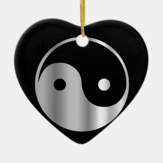Icono religioso del daoism Ying y de Yang del Adorno De Cerámica En Forma De Corazón