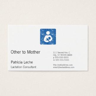 Icono retro del oficio de enfermera del estilo de tarjeta de visita
