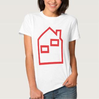 icono rojo de las propiedades inmobiliarias de la camisas