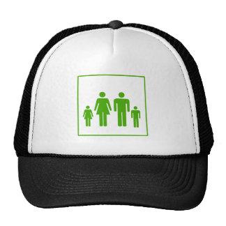 Icono verde de la familia de Eco - ecología Gorras De Camionero
