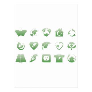 iconos ambientales 2 tarjeta postal