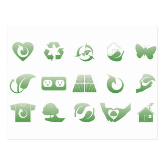 iconos ambientales 3 postales
