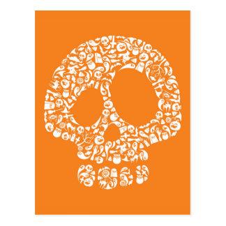 Iconos de Halloween - cráneo Postal