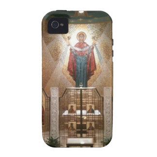 Iconos de la capilla que pintan el fresco iPhone 4 carcasa