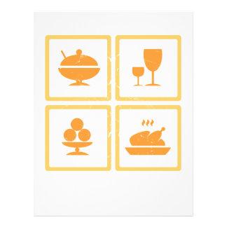 Iconos de la comida folleto 21,6 x 28 cm