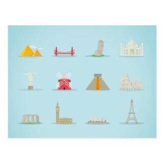 Iconos de la señal del mundo postal