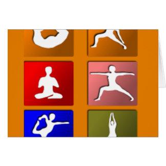 Iconos de la yoga tarjeta