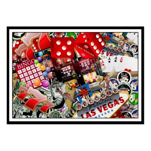 Iconos de Las Vegas - placer de los jugadores Plantilla De Tarjeta Personal