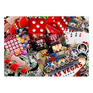 Iconos de Las Vegas - placer de los jugadores Plantillas De Tarjeta De Negocio
