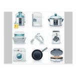 Iconos de los aparatos electrodomésticos (5) tarjeta postal