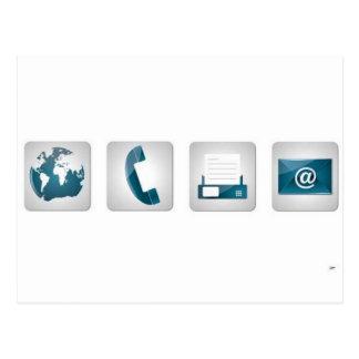 Iconos del contacto tarjetas postales