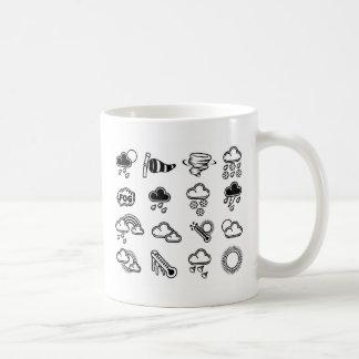 Iconos del tiempo taza de café