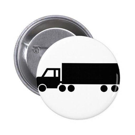iconos negros del camión chapa redonda 5 cm