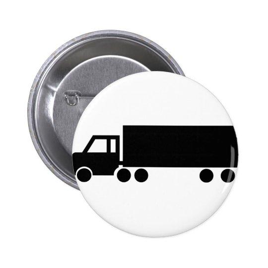 iconos negros del camión chapa redonda de 5 cm