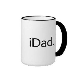 iDad. Logotipo (papá de i) Taza De Dos Colores