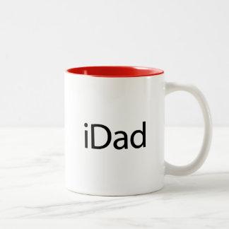 iDad (papá) de i - una taza apenas para los papás