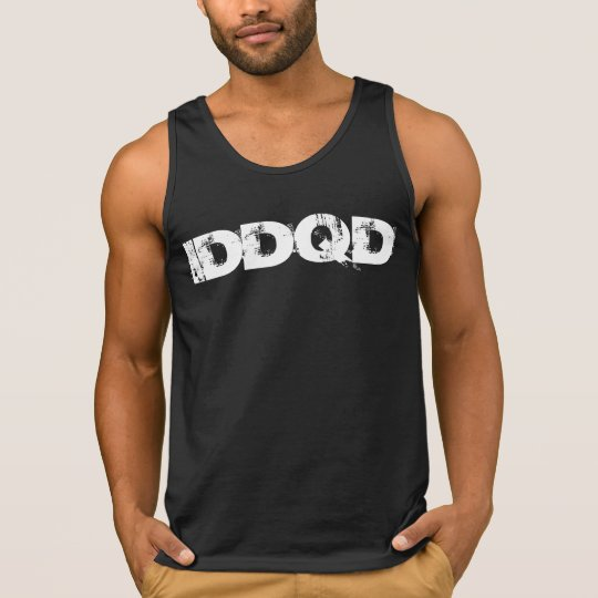 IDDQD Font White Camiseta De Tirantes