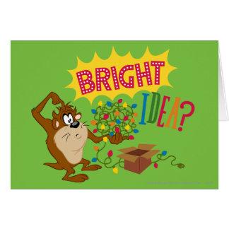 Idea brillante tarjeta