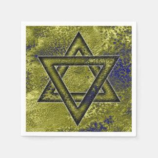 Idea de adornamiento judía, estrella de David Servilletas De Papel