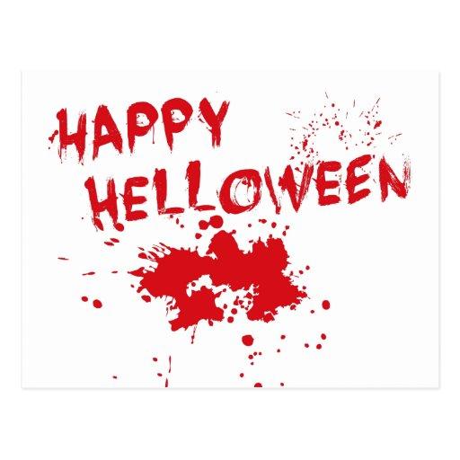 """Idea de Halloween: """"Helloween feliz"""" escrito en Postales"""
