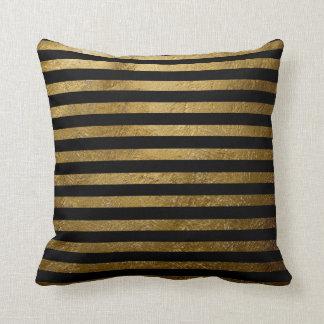 idea de oro elegante de las rayas a la decoración cojín