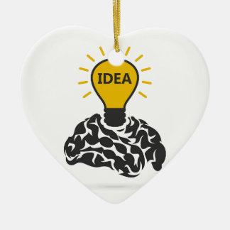 Idea de un cerebro adorno de cerámica