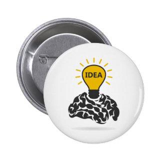 Idea de un cerebro chapa redonda de 5 cm