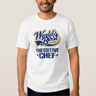 Idea del regalo para el chef ejecutivo (mundos camiseta