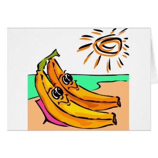 Idea divertida del boda de playa tarjeta de felicitación
