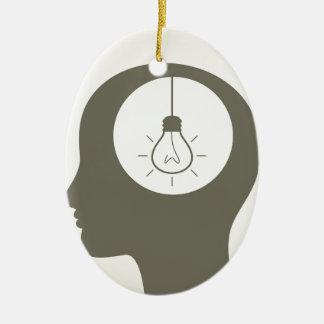 Idea en una cabeza adorno de cerámica