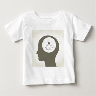 Idea en una cabeza camiseta de bebé