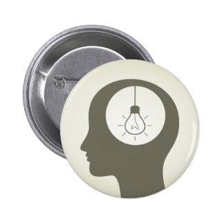 Idea en una cabeza chapa redonda de 5 cm