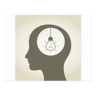 Idea en una cabeza postal