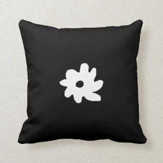 idea gráfica blanca negra de la decoración de la almohada