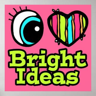 Ideas brillantes del ojo del amor brillante del co impresiones