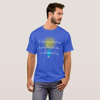 Ideas brillantes torcidas camiseta