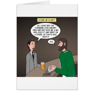Ideas estúpidas del presente de la joyería tarjeta de felicitación