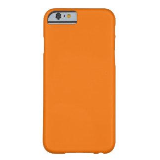 Identificación anaranjada del personalizado del funda de iPhone 6 barely there