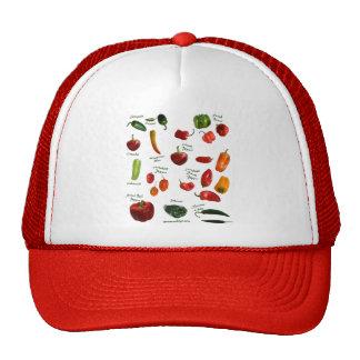 Identificación de la pimienta de chile gorras de camionero