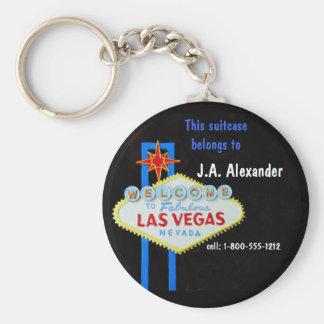 Identificación del equipaje. Etiqueta Las Vegas Llavero Redondo Tipo Chapa