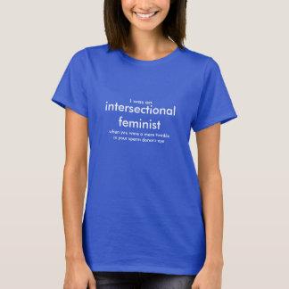 Identificación feminista de la estación camiseta