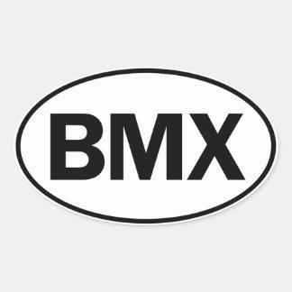 Identificación oval de BMX Pegatina Ovalada