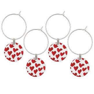 Identificador De Copa Amor rojo pintado modelo del corazón del ejemplo