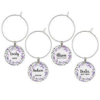 Identificador De Copa Banquete de boda floral de la púrpura de la lila